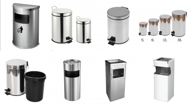 Thùng rác inox quầy bar - thiết bị quầy bar